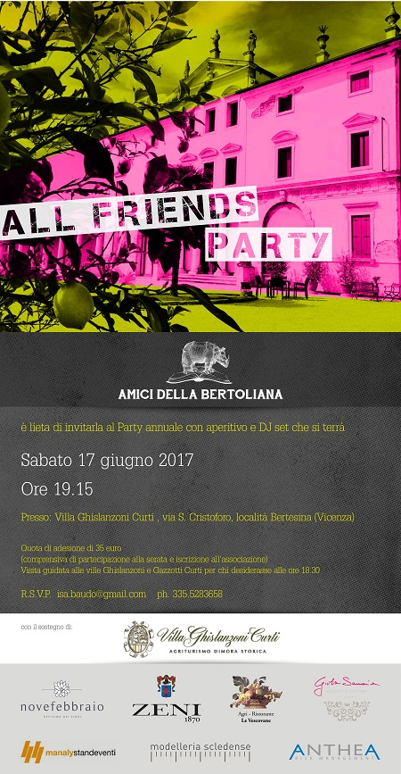 Amici della Bertoliana festa annuale 2017 villa ghislanzoni curti all friends party