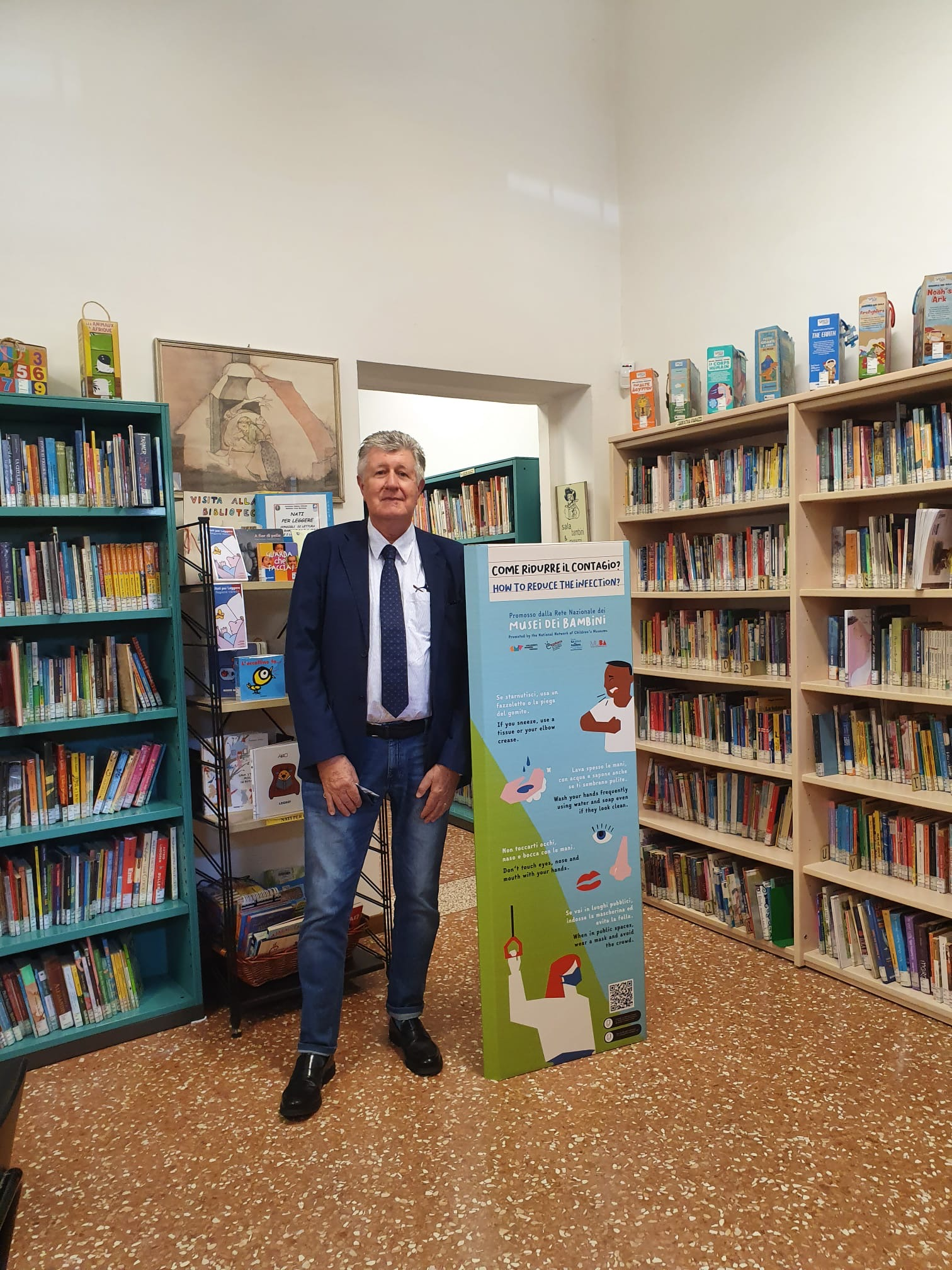 totem amici della bertoliana biblioteca vicenza lotta al covid-19 bambini scuole veneto associazione antonio bicego donazione